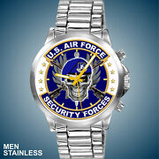United States Air Force Security Forces Usaf Police New Manand039s Stainless Watch
