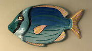 Vintage Paper Mache Fish Shaped Handpainted Serving Platter Tray India