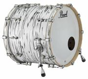 Pearl Music City Custom Reference Pure 22x18 Bass Drum W/ Mount Black N White Oy