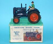 Britains Lead Farm 128f Fordson Major Tractor E27n Rubber Tyres Boxed 1930s