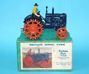 Britains Lead Farm 127f Fordson Major Tractor E27n Spudded Wheels Boxed 1930s