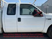99-07 Ford Super Duty Used White Super Cab Front And Rear Manual Doors No Rust