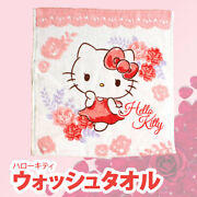 Hello Kitty Wash Towel Dreamy Dress Style 25 X 25 Cm Cotton 100 From Japan