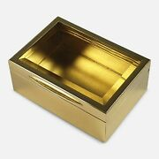 Sterling Silver Gilt And Glass Box, Goldsmiths And Silversmiths, 1910