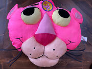 Pink Panther Vintage Face Plush Stuffed Head Pillow Play By Play 1994 Nylon