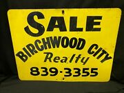 Vintage For Sale Real Estate Realty Sign Birchwood City Oxen Hill Maryland 1960