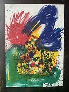 1964 Walasse Ting 1 Cent Life Lithograph With Joan Mitchell Abstract Artwork