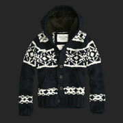 Abercrombie And Fitch Wool Blend Faux Fur Hooded Sweater Nwt Authentic Item