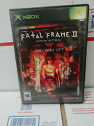 Fatal Frame Ii The Crimson Butterfly -- Director's Cut Original Xbox Complete