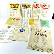 Lot 14 Vtg Circus Carnival Schedule Route Cards Barnes Royal James Drew