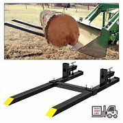 Steel Attachments Heavy Duty 60 Clamp-on Pallet Forks 4000 Lbs Loader Bucket