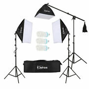 86 Photography Studio 3 Soft Box Light Stand Continuous Lighting Kit Diffuser