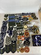 Army Navy Air Force Patches Pins Lot