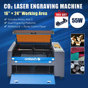 Omtech 60w Co2 Laser Engraver Cutter Marker Ruida With 16x24 Bed Rotary Axis C