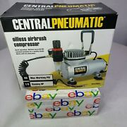 Central Pneumatic 1/8 Hp 40 Psi Oilless Airbrush Compressor 93657