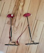 Vintage Hat Stands With Wooden Top, Bendable