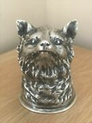 Stunning Silver Vintage Russian Fox Headed Novelty Stirrup Cup