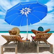 Beach Umbrella Sun Tent Family Pool Camping Sport Shelter Canopy 6.5ft Outdoor
