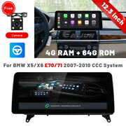 12.3 Ips Android Car Stereo Radio Gps Player For Bmw X5 X6 E70 E71 2007-10 Ccc