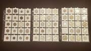 Lot 60 High Value Coins 1802 To 2001 Mostly Silver 1 50c 25c 10c 5c 3c 2c 1c