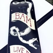 Bam Margera Element Skateboard Rare Rattle Snake Live Free Or Die Collectible