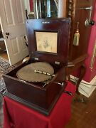 Antique Regina Double Comb Disc Music Box Beautiful Tone And Working Condition