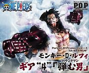 One Piece Luffy Gear 4 Bound Man Figure Authentic Mega House Portrait.of.pirate
