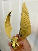 Harry Potter Metal Golden Snitch Music Box Certificate Of Authenticity Original
