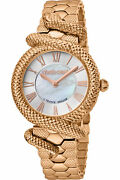 Roberto Cavalli By Franck Muller Rv1l029m0081 White Rose Gold Womenand039s Watch New