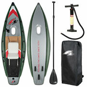 F2 Fishing Boat Inflatable + Paddle Cutter Sup-set Boat Kayak New