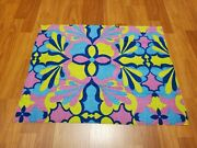 Awesome Rare Vintage Mid Century Retro 70s 60s Psychedelic Pastel Terry Fabric