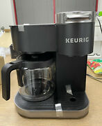 Keurig K-duo Single-serve And Carafe Coffee Maker - Black + 4 K Cups For Free