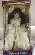 Collectors Choice Genuine Fine Bisque Porcelain Doll - Nib With Certificate
