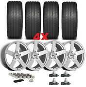 20 Silver Wheels Rims Tires Staggered Offset 245 45 20 275 40 20 Package Set