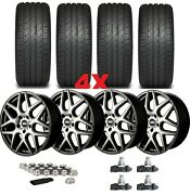 20 Machined Wheels Rims Tires Staggered Offset 245 45 20 275 40 20 Package Set