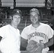 Thurman Munson And Johnny Bench 1970 Yankees And Reds Original Photo Negative120mm