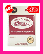 Amish Country White Hulless Microwave Popcorn Count Bags Lite Natural 1 Piece