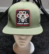 Obey Mfg Playing Cards Snapback Cap 100 Authentic