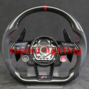 Customized Carbon Fiber Steering Wheel For R8 Rs3 Rs4 S7 A7 A4 S3 Tt Ttrs