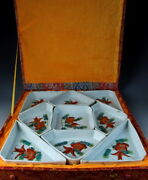 Set Of China Antiques Famille Rose Porcelain Dinner Dishes W Golden-fish Deco