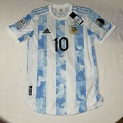 Argentina 2021 Lionel Messi 10 Heat.rdy Match Jersey Copa America Patches Small