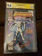 West Coast Avengers 45 Cgc 9.6 Sign By Paul Bettany And Elizabeth Olsen