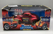 Muscle Machines Red And03941 Jeep Willys Coupe Willy The Kid Gasser 1/18 Diecast 2003