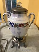 Fabulous Mcm Royal Rochester Pearlized Lusterware Electric Coffee Pot W/flowers