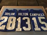 Jonathan Taylor And Ty Hilton And Paris Campbell Signed Colts Jerseyand039s-jsa/bec/psa