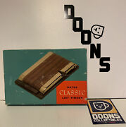 Bates Classic List Finder Vintage Walnut And Brass Finish Complete With Box