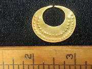 Antique Pre1600 Pre Columbian South American Solid 22k+ Gold Earring / Nose Ring