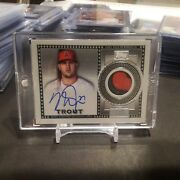 Mike Trout 2021 Topps Series 1 Autograph Patch 1/1 One Of One