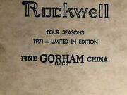 1971 Norman Rockwell Four Seasons Limited Edition Fine Gorham China 4 12 Plates