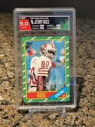 1986 Topps Jerry Rice Rookie 49ers 161 Graded 9 Rare Mint 🔥